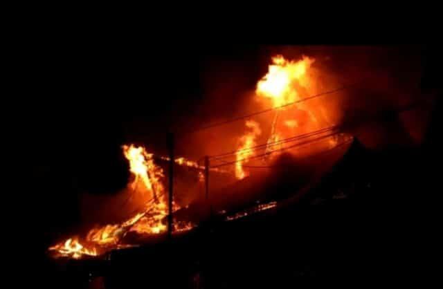 Kebakaran di Pasar Taibah Martapura Kalimantan Selatan