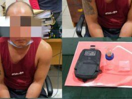 Pelaku beserta barang bukti diamankan di kantor polisi